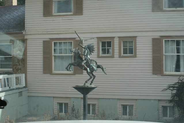 A Statue Outside Of Indian Springs Hot Springs In Idaho Sp