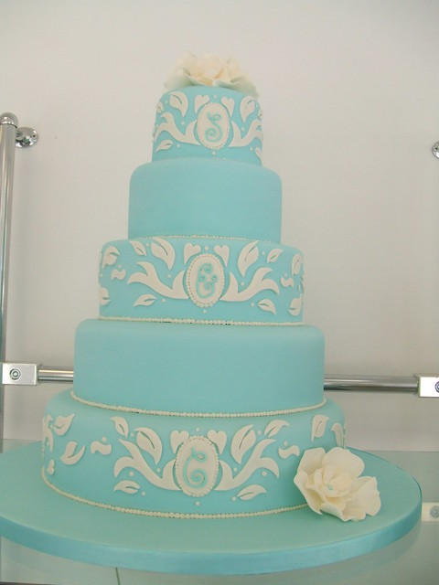CAKE Vintage turquoise wedding cake by Stacey turquoise wedding cakes