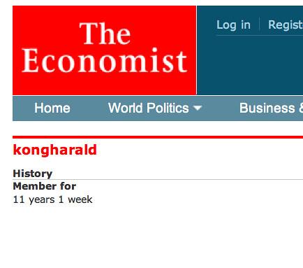 The Economist login.
