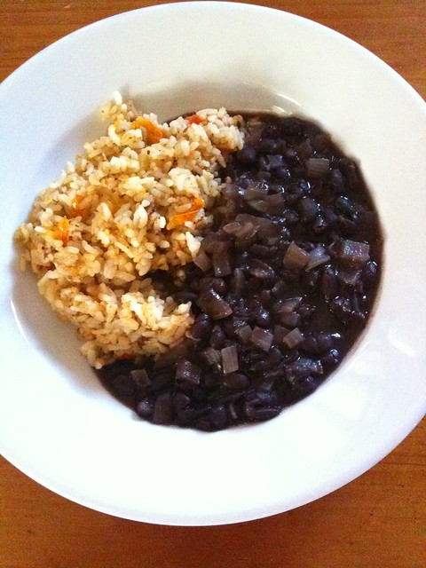 Spanish rice and black bean soup | Flickr - Photo Sharing!