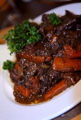 steak(0.0), produce(0.0), pot roast(0.0), venison(0.0), gravy(1.0), meat(1.0), food(1.0), dish(1.0), cuisine(1.0),