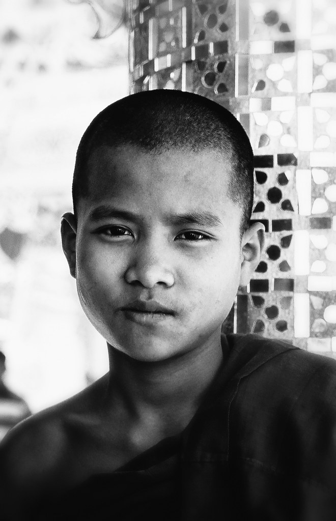 A Burmese Face Of Calm Reflection