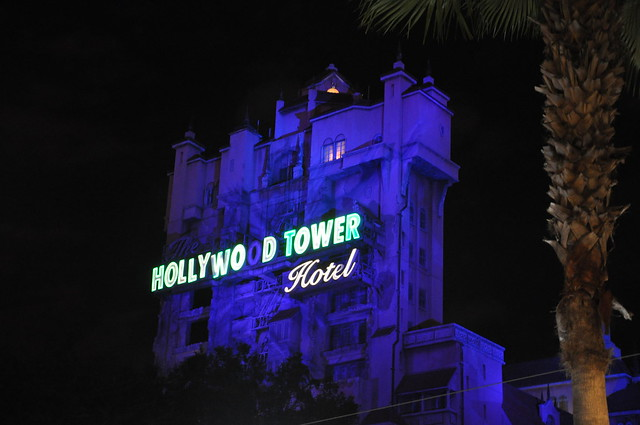 Tower of Terror at night - Flickr CC serenalyn