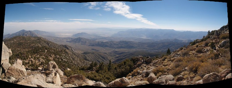 Panorama southwest from Toro Peak.