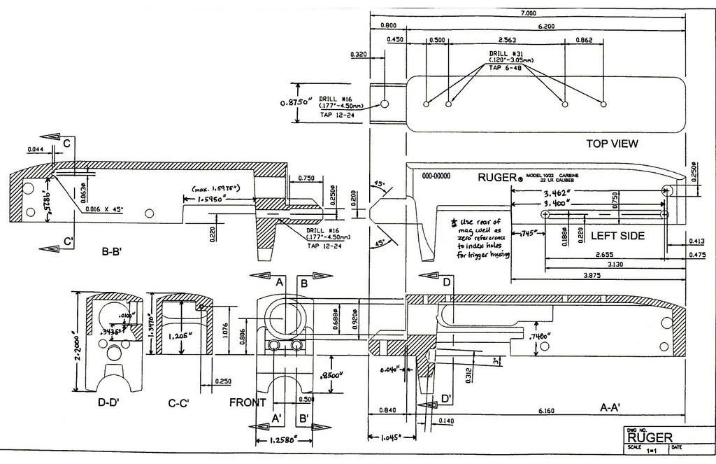 Ruger 10 22 receiver blueprint ar15 com for Arkansas blueprint