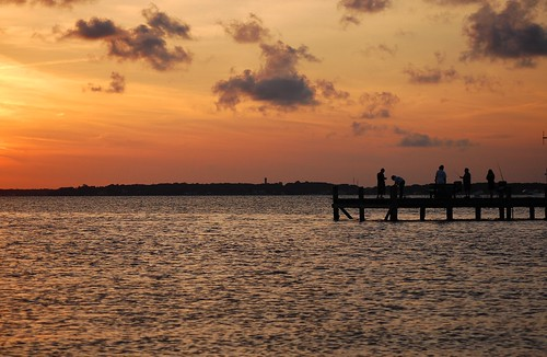 sunset newjersey barnegatbay d40
