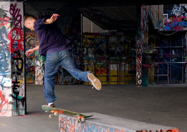 Skateboard Park located in London, England by flickr user Todd Huffman