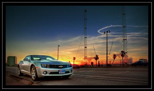 galveston gulfofmexico sunrise texas camaro chevy zuiko coupe musclecar chevycamaro 1260mm olympuse30