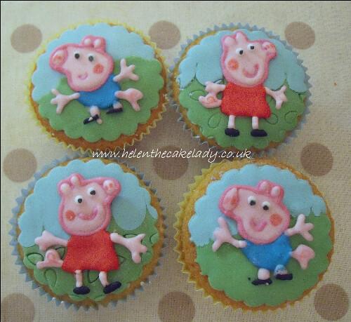 peppa & george cupcakes
