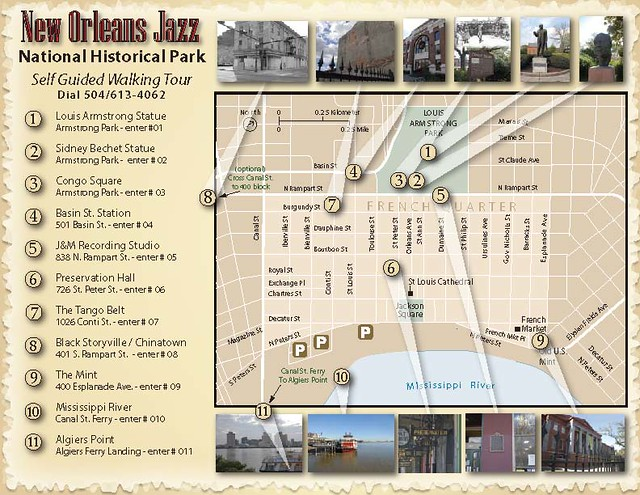 New Orleans Jazz National Historic Park Self Guided Walking Oncell Tour Map Flickr Photo