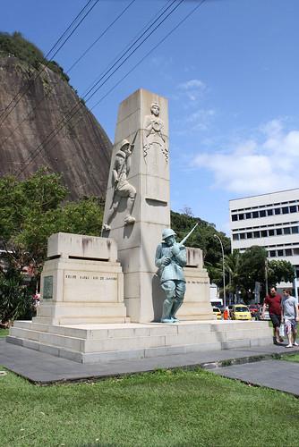 A military memorial at Lion Square, Rio de Janeiro