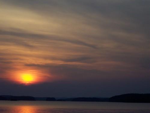 trees sunset sun lake water clouds arkansas degray thebiggestgroup baronsquirrel