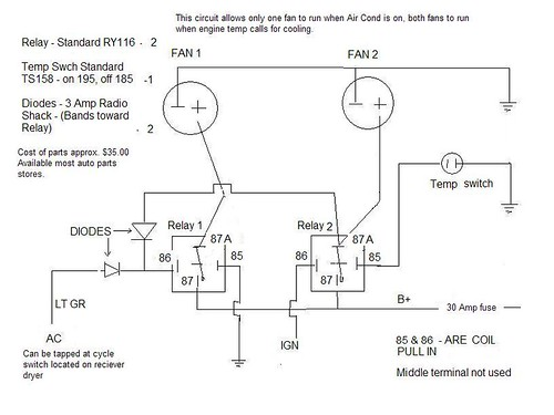 537022814_56e7364f85 electric fans and a c [archive] el camino central forum dual electric fan relay wiring diagram at crackthecode.co