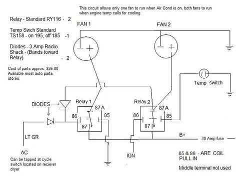 dual electric fan relay wiring diagram   38 wiring diagram