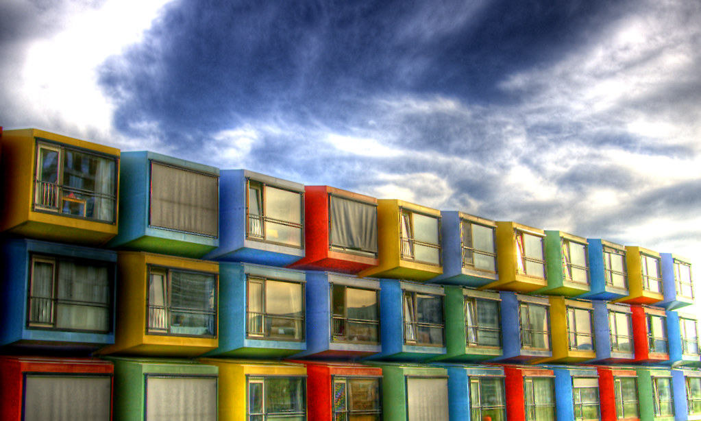 Living in a colourful box