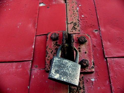 a lock - 鍵