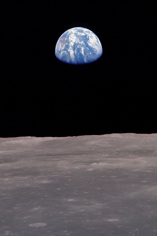 Earth from the moon iPhone wallpaper