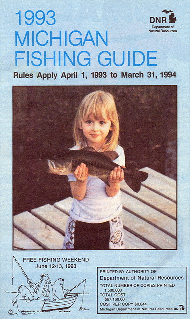 1993 michigan fishing license guide flickr photo sharing for Michigan fishing license online