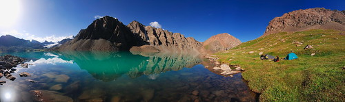 mountain lake landscape asia central kirgizstan kyrgyzstan karakol supershot alakol