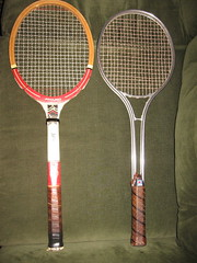 strings(1.0), sports equipment(1.0), rackets(1.0),