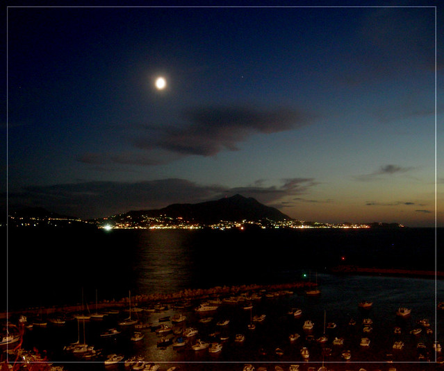 I look at  Ischia from Monte di Procida
