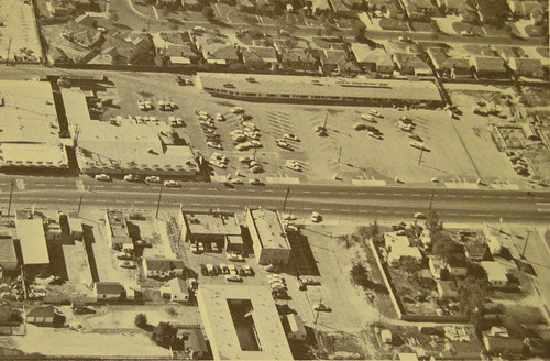 aerial shot of Imperial Home Supply and Beach's Farmers Market (City of Downey California ) by Dying In Downey