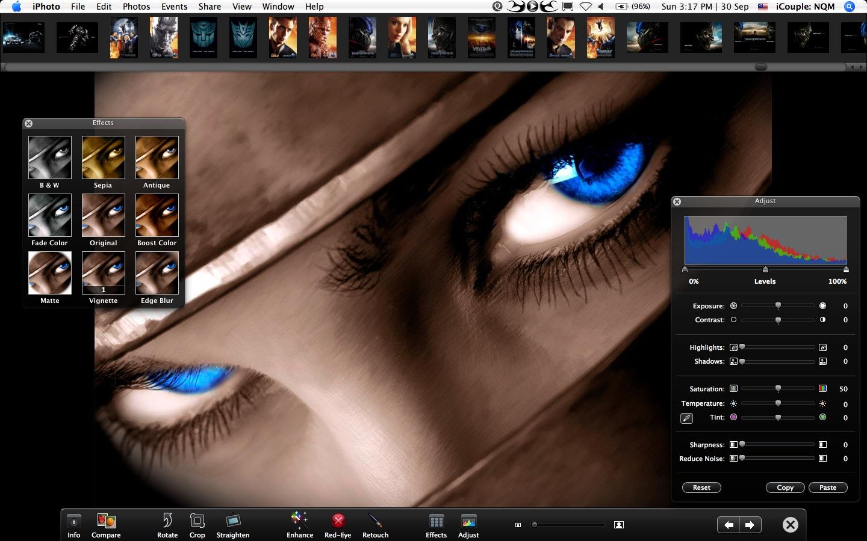 iPhoto Fullscreen Edit
