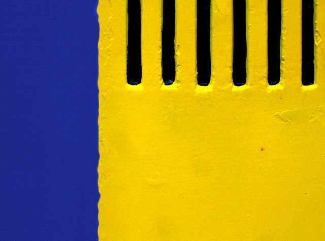 Yellow and blue with a touch of black