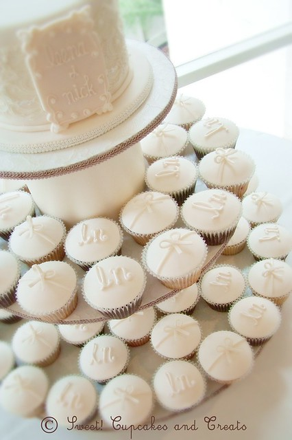 Wedding Cupcakes White Truffle Raspberry and Chocolate Fudge cupcakes with