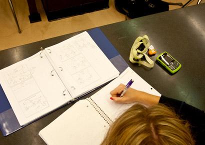 Newman University student studying