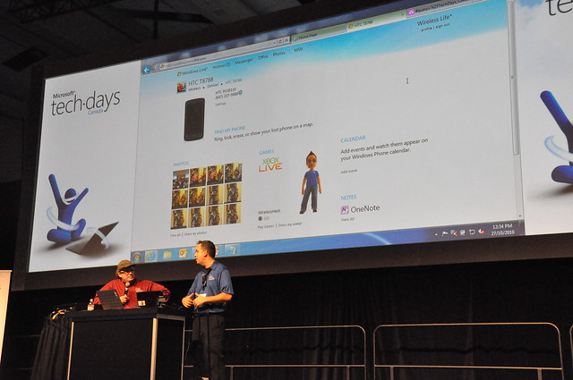 Windows Phone 7 during Lunchtime Demo at TechDays Toronto 2010