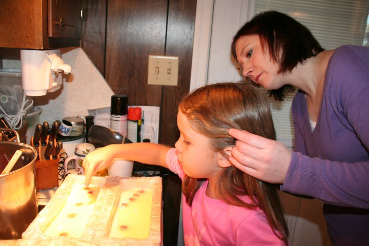 Maddie and Me Making Bayberry Melt and Pour Soap