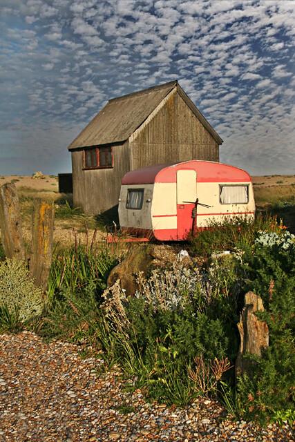 pink caravan dungeness