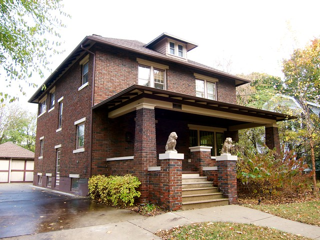A Lovely Brick American Foursquare House in Whitewater WI ...