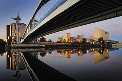UK - Manchester - Salford - Dockside reflection v2