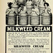 Advertisement -- Milkweed Cream