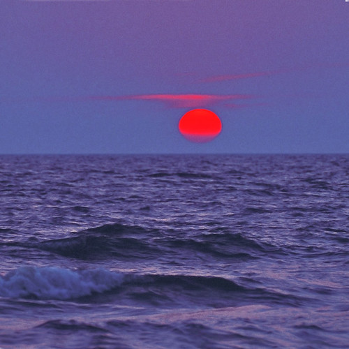 blue moment - red sun