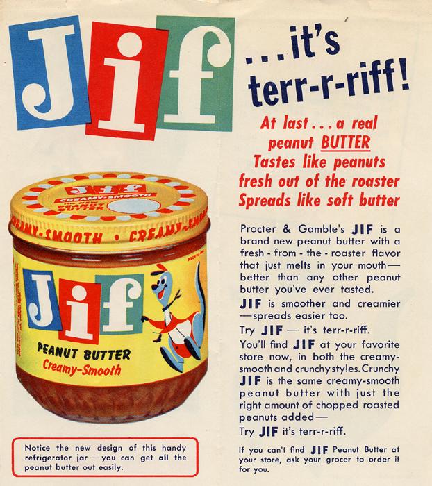 Jif brochure - 1958
