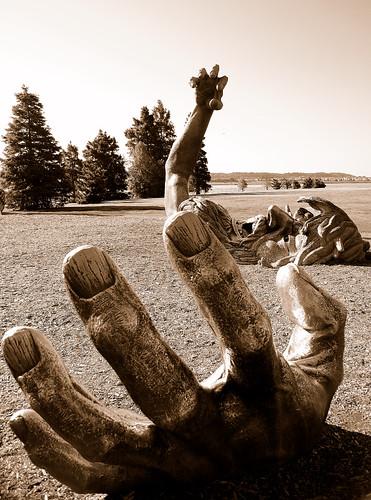 sculpture statue sepia washingtondc oneofakind hdr eastpotomacpark hainspoint d40 anawesomeshot impressedbeauty diamondclassphotographer flickrdiamond photofaceoffwinner theawakeningstatue pfogold