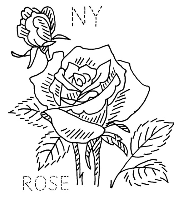 Economy quilt for state report free coloring pages for New york state flower coloring page
