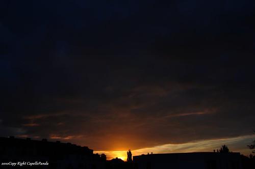 sunset sun 太陽 日落