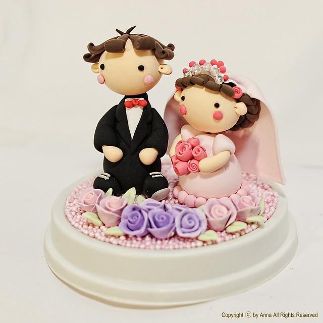 Cute Couple Wedding Cake Topper
