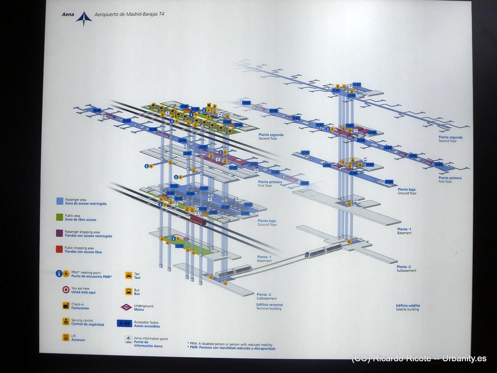 Plano Pmrs Aeropuerto De Barajas Terminales T4 Y T4s A