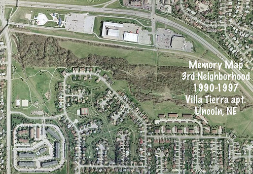 Memory Map of my Old Neighborhoods, Vol 3: Villa Tierra Apts. [Lincoln, NE, USA]