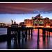 Canary Wharf from East India Docks by Simon Vardy