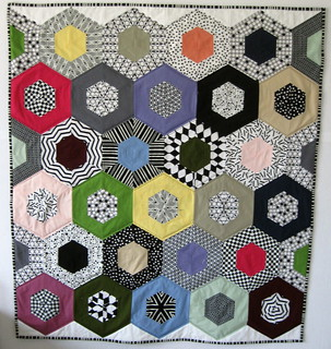 Hexagon Quilt finished