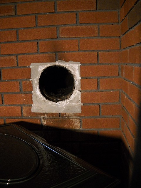 Wood Stove Vent Pipe Installation Flickr Photo Sharing
