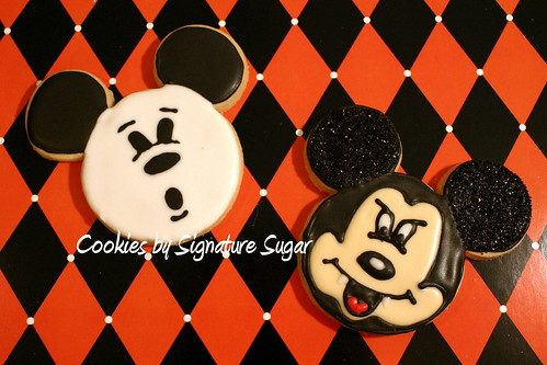 Ghost and Vampire Mickey Mouse Cookies