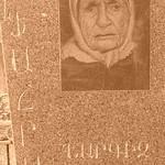 Image of Grandma on Tomb - Yerevan, Armenia