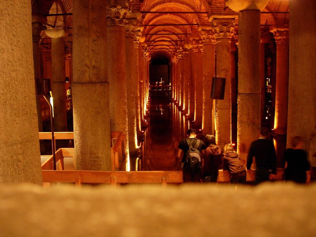 Interior de las cisternas